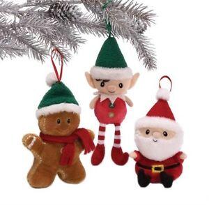 GUND Christmas Set of 3 Village Hanging Tree Decorations NEW  17500
