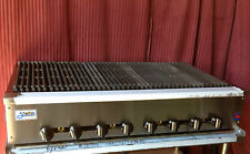 New 48 Radiant Char Broiler Gas Grill Stratus Srb 48 1231 Bbq Burger Commercial