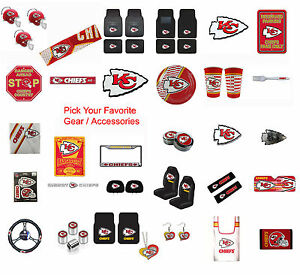 d1f43647 New NFL Kansas City Chiefs Pick Your Gear / Car Accessories Official ...