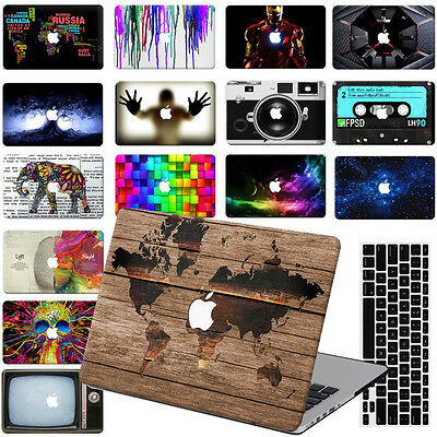 "Rubberized Painting Hard Case Cover For Macbook Pro Air 11/""13/""15/"" Retina 12/"" KB"