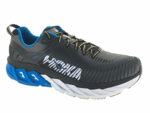 Men/'s Hoka One One Arahi 2 Running Athletic Shoes Black Charcoal Grey 2E-Wide
