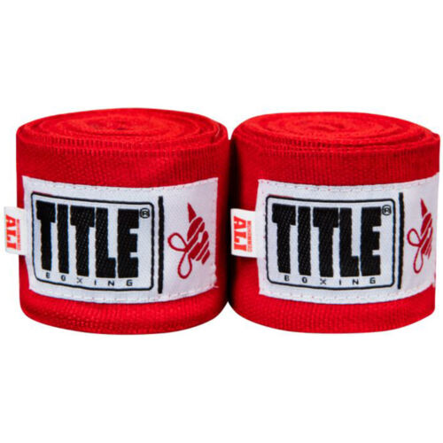 """Red Title Boxing Ali Sting 170/"""" Mexican Style Handwraps"""