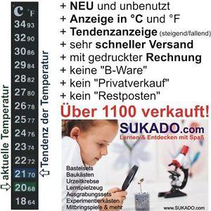 LCD-Digital-Klebethermometer-Aquarium-Terrarium-Fluessigkristall-Thermometer-NEU