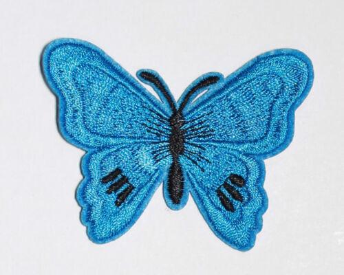 Hierro en coser en parches Bordados Mariposa Motivos 12 colores diferentes #13