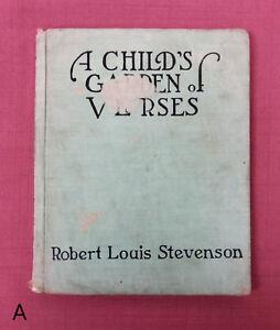 VTG-Robert-Louis-Stevenson-Child-039-s-Garden-of-Verses-Myrtle-Sheldon-Art-Nouveau