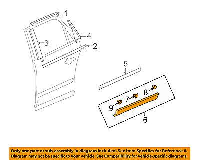 Rear Lower Genuine GM 22763886 Door Molding