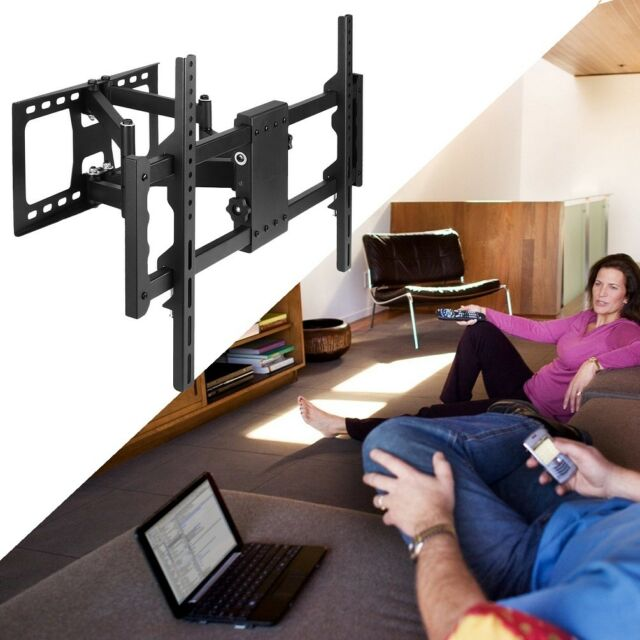 Full Motion TV Wall Mount Tilt Bracket Swivel for Samsung LG Sony TCL 32-85 inch