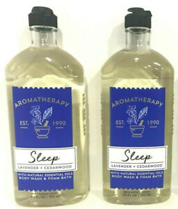 Bath-Body-Works-Aromatherapy-LAVENDER-CEDARWOOD-10-ozs-WASH-SHOWER-GEL-FOAM-2-PC
