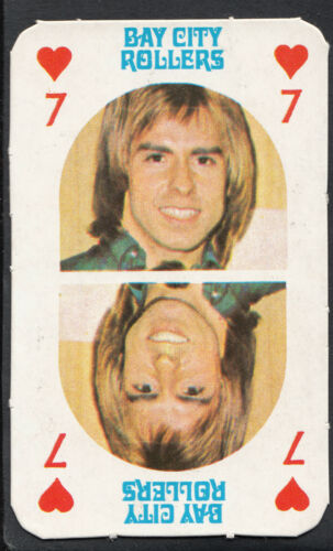 The Bay City Rollers Music Card Seven of Hearts Monty Gum 1970/'s Gum Card