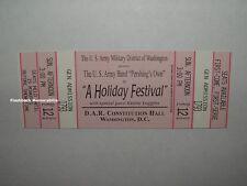 KENNY LOGGINS Concert Ticket D.A.R. HALL U.S. Army Band 2004 HOLIDAY FESTIVAL DC