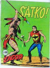 ZAGOR n° 45 scritta rossa buono Lire 400 Febbraio '74 piccolo taglio costa alta