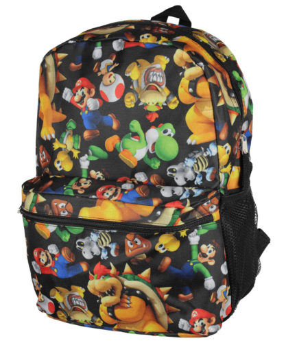 Super Mario Bros 3D All-Over Print Large Backpack