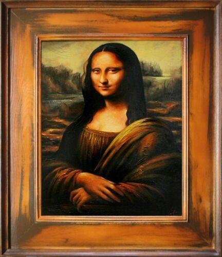 Mona Lisa Leonardo da Vinci Große Meister-77x66cm Ölgemälde Handgemalt Rahmen