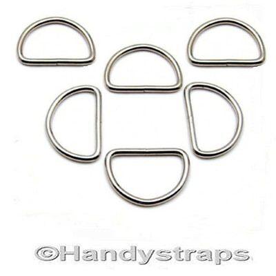 50 x 25mm Metal WELDED D Ring Buckles for Webbing