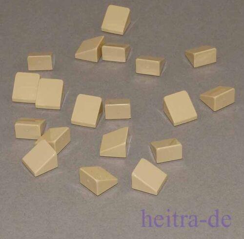 54200 NEUWARE 20 x Mini LEGO Dachstein 30 Grad 1x1x2//3 beige Tan