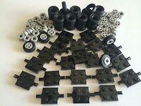 ☀️new Lego 100 Lot Car Parts Wheels Tires Axles Rims 100 Pieces Small Truck