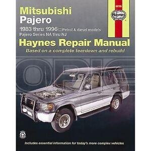 haynes mitsubishi pajero 83 96 car manual 68765 ebay rh ebay co uk Mitsubishi Pajero Sport Mitsubishi Pajero Sport