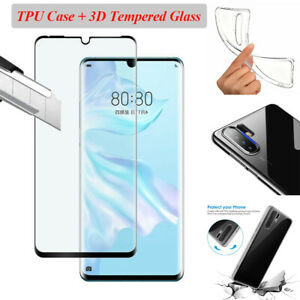 For-Huawei-P30-Pro-Case-Cover-5D-Curved-Tempered-Glass-Screen-Protector-ES-LO
