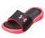 NEW Under Armour Girls Playmaker Fix Strap Slide Sandals Black//Pink 13 3
