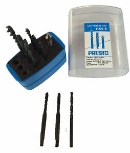 M5 Presto M4 M6 Tap /& Drill Set with countersink HSS Metric High Speed Steel
