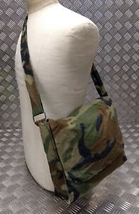 Genuine Military Issued Woodland Camouflage Lightweight  Compact Shoulder Bag