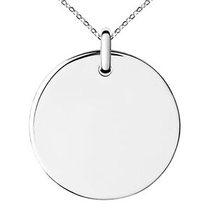 Stainless-Steel-Medallion-Circle-Charm-Pendant-Necklace-FREE-ENGRAVING