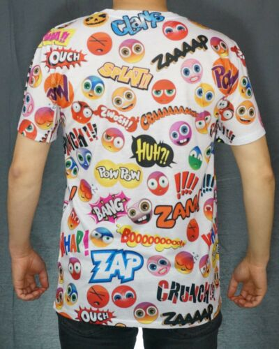 KAYDEN.K Men/'s Sublimation All Over Print T-Shirt Various Expressions Clipart