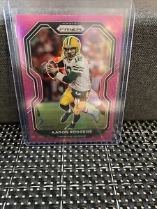 2020-Panini-Prizm-Football-Pink-Aaron-Rodgers-206-Green-Bay-Packers-PSA-BGS-SSP