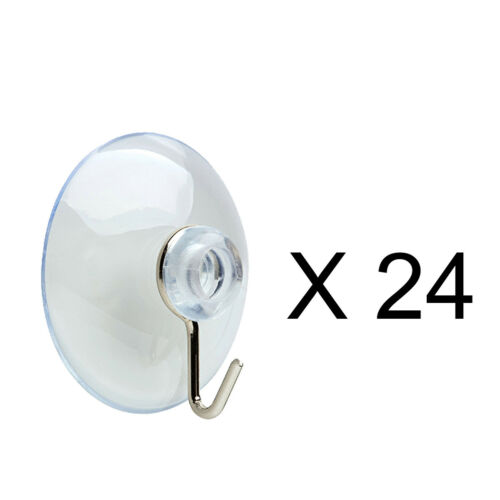 24 Christmas Suction Hooks Indoor Outdoor Lights Bulb Display Window Party Fun