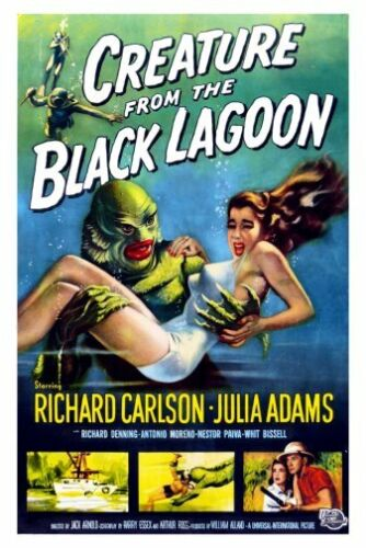 Creature From The Black Lagoon Movie Poster Large 24inx36in