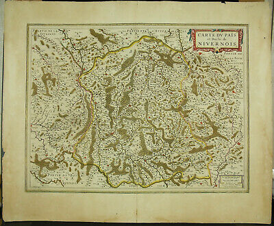 Levering Henri Hondius Xviie Carte Du Nivernois Nièvre Nevers Bourgogne Amsterdam 1635 Hot Sale 50-70% Korting