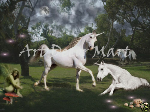 Unicorn Clearing     - CANVAS OR PRINT WALL ART