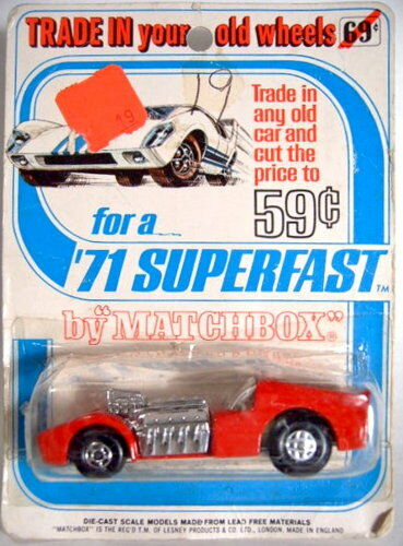 Matchbox Superfast 19b Road Dragster rare  trade in...  Blister Card