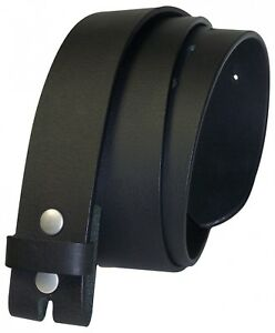 Fronhofer Cinturón 4cm Botón a Presión Cinturón sin Hebilla, Cuero de Búfalo