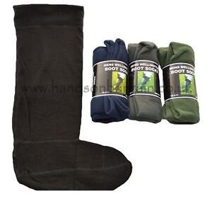 Mens 3 Pairs Welly Socks Long Wellington Boot Liners Gardening Sock Size UK 6-11