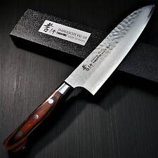 Japanese Sakai Takayuki Hammered Damascus VG10 Santoku Kitchen Knife 180mm Japan
