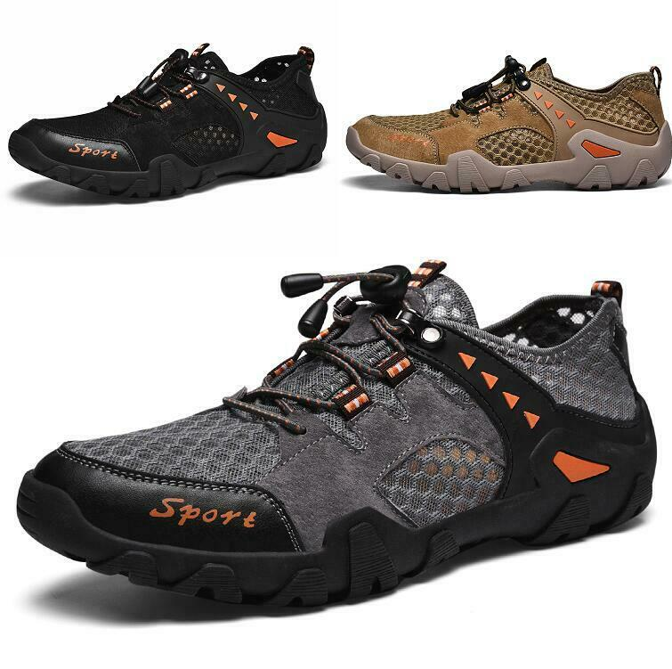 Men Lace up Breathable Non-slip Slip on Soft Mesh Casual shoes Flats Lace up New