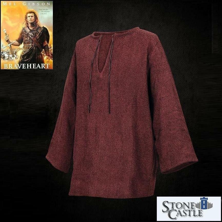 Mel Gibson Braveheart William Wallace Shirt for Re-enactment Costume Stage LARP