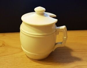 Ancien moutardier en porcelaine - Sarreguemines France
