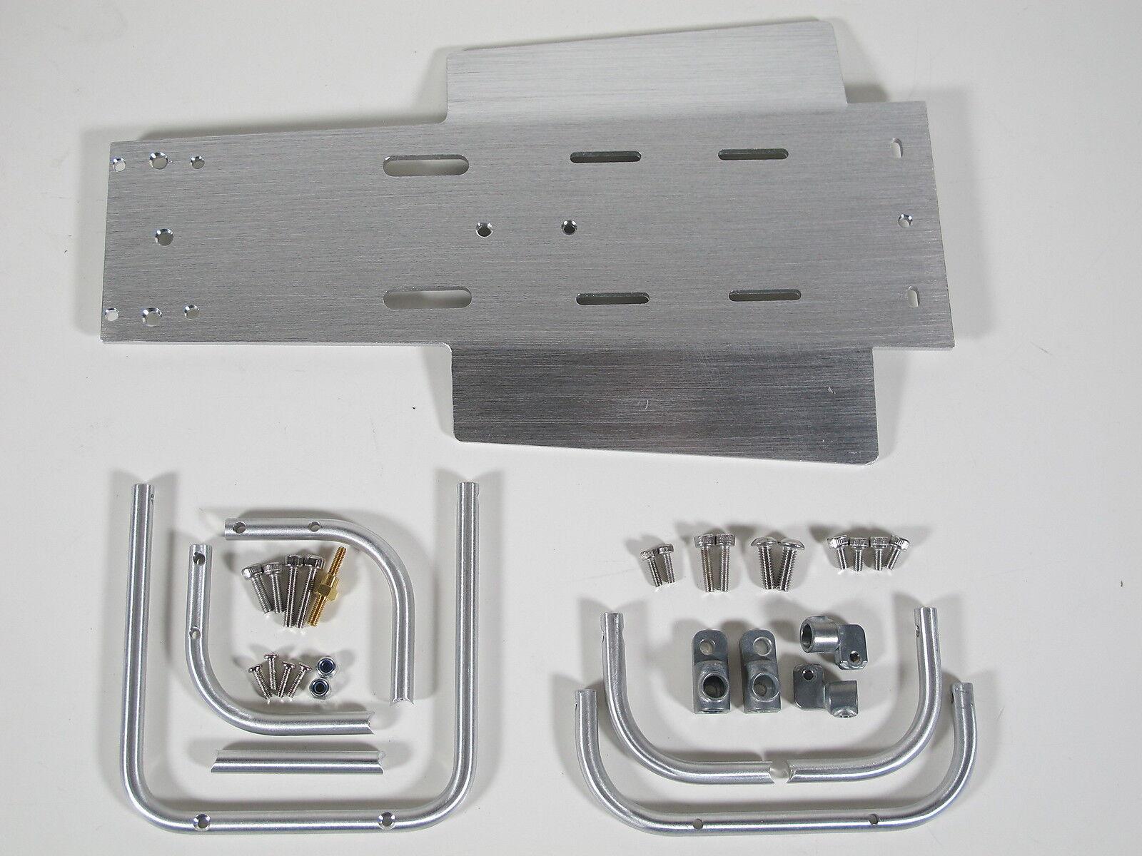Tamiya 1/10 Aluminio Delantero Trasero Protector De Parachoques  placa de chasis Arena lnfernal Champ