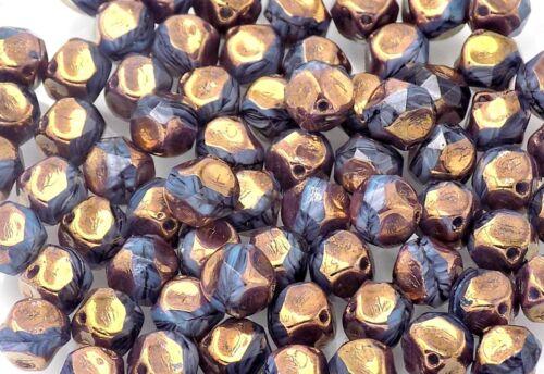 tienda  Reino Unido * Granos De Cristal Checo Redondo irregular PK10 9mm carbón bronce