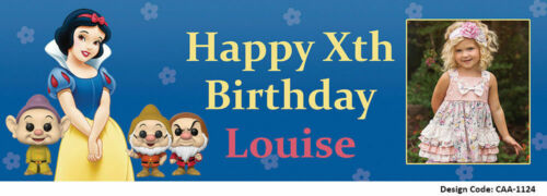 Snow White Birthday Banners  PVC Personalised Banner Vinyl Customised Banner