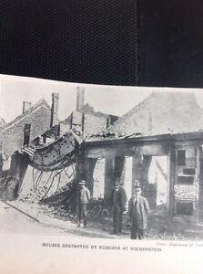 R3 Ephemera 1918 Picture Shelled Houses Nochenstein - Leicester, United Kingdom - R3 Ephemera 1918 Picture Shelled Houses Nochenstein - Leicester, United Kingdom