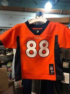 011c6ef6 Details about Denver Broncos! NFL Team Apparel Kids 3-6 Mo. D. Thomas #88  Football Jersey
