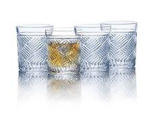 Mikasa Ballard Braid Set of 4 Double Old Fashioned drinking glasses #XmasBonus