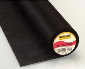(4,11 €/m) 25m vlieseline h180 NERO STAFFA inserto tessuto non tessuto INSERTO larga 90cm