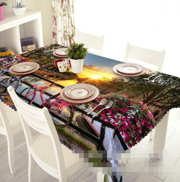 3D Bikes Sun 4 Tablecloth Table Cover Cloth Birthday Party Event AJ WALLPAPER AU