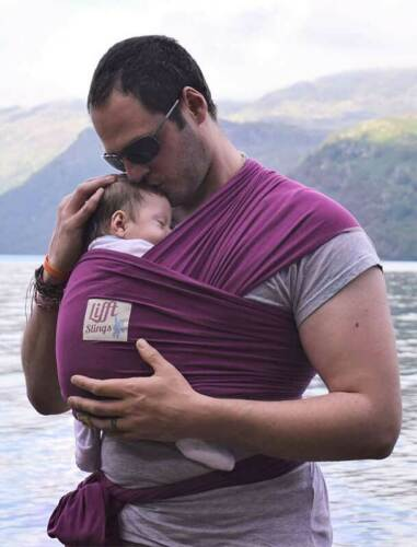 Plum Lifft Slings Stretchy Wrap Baby Carrier