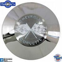 1958 Corvette Steering Wheel Horn Button Emblem Insert - Made In The Usa
