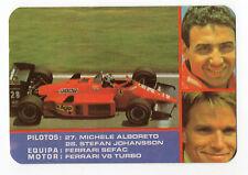 1987 portugués De Bolsillo Calendario F1 Ferrari Equipo-Michele Alboreto + S. Johansson